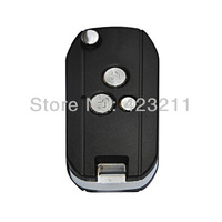 Blank Flip Folding Remote Key Shell Case For Hyundai Coupe Rohens 3Buttons  FT0261