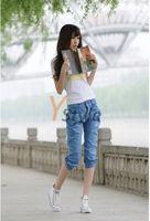 Wholesale Hot Harem Jeans Cropped Denium Pants in Full Size XS, S, M, L, XL, XXLSummer Hot Fashion Jeans YS-Linggan-806-1