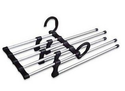Free Shipping, We Best, Magic Trousers Hanger/Metal Rack Multifunction Pants Hanger, 5 Pieces Per Lot, Drop Shipping, ZHW013(China (Mainland))