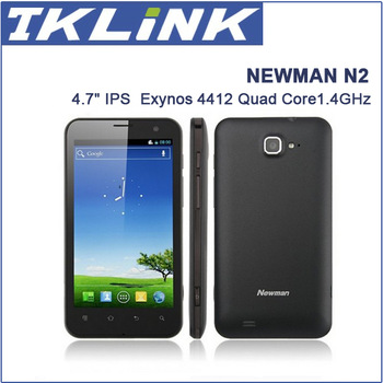 Newman N2 Quad Core 4.7 Inch HD 10 Point Touch IPS Screen  Exynos 4412 1.4GHz  Android 4.0 Mobile Phone 13MP Camera