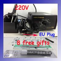 220V HAKKO 936 Soldering Station 907 soldering handle + 10 High Quality Solder Tips