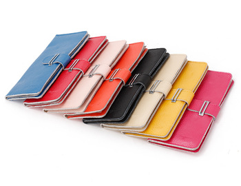 new arrival women business card holder credit card clutch bags genuine leather wallets