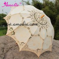Free shipping Embroidery Battenburg Lace Parasols Bridal Umbrella