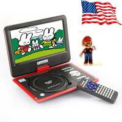 "9.5"" TFT 270 Portable DVD CD Player with TV Punction SD USB Slots + Game 16:9 free shipping US shipping MP0267(China (Mainland))"