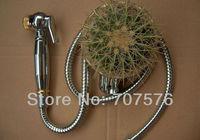 Free Shipping  Brass Toilet Full set Shattaf Bidet Diaper Sprayer Handheld Muslim Shower TS708-1-KIT  Chrome +gold