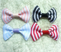 free shipping!500pcs/lot Bowknot without hair clips,fashion stripe ribbon bow Hair accessory Wholesale