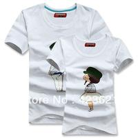 New Style+High Quality Cotton+Lovey Couple T-shirt 2pcs/pair T-Shirt Women/Men/Lover/Couple