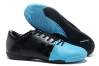 2013 Fee shipping Men's soccer shoes indoor flat botton soccer boots football cleats Glide III AG-Blue/Green size:eur 39-45