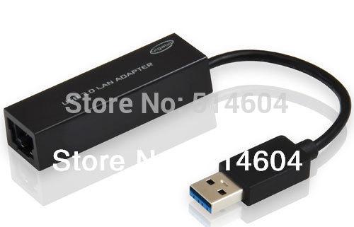 USB 3.0 Super Speed 10/100/1000Mbps Gigabit Ethernet RJ45 External Network Card Lan Adapter Free Shipping(China (Mainland))