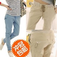 2014 Fashion women's Spring and summer casual trousers candy color harem pants female  plus size loose sports