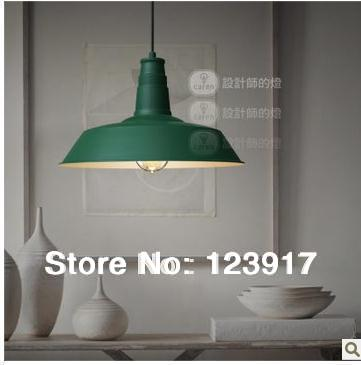 loft style,retro living room/bar counter pendant light,industry American Country green drop lamp,aluminum FREE SHIPPING(China (Mainland))
