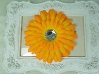 Wholesale - 4''Newfashioned Baby headband Infant hair flower Kids hair accessories Gerbera Daisy Flowers 45pcs/lot