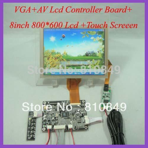 VGA+AV lcd controller board KYV-N2 V1+8inch 800*600 EJ080NA-05B Lcd+Touch screen(China (Mainland))