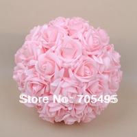 9'' (23cm) Artifiical Kissing Foam Rose Flower Ball Wedding Centerpiece Decorative Flowers & Wreaths 18pcs/lot Free Shipping