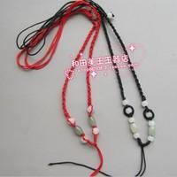 FREE SHIPPING! Jade lanyard beads lanyard jade rope diy accessories