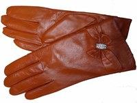 Free Shipping! High Quality ! Real Genuine Sheep Leathe Ladies  Fashion Gloves
