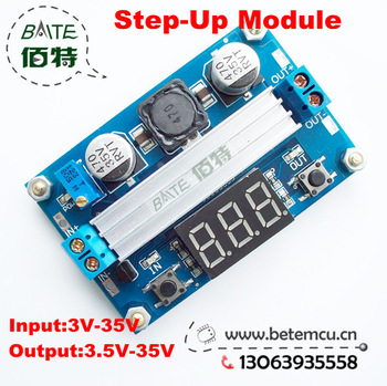 DC DC-DC 3~35V to 3.5~35V LTC1871  Booster step up Step-up module Converter Regulated Power Supply+VoltMeter