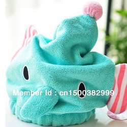 Microfiber Magic Hair Dry Drying Turban Wrap Towel/Hat/Cap Quick Dry Dryer Bath(China (Mainland))