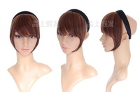 Free Shipping Black,Brown 22cm Straight Synthetic Hair Headbands Side Bang,Clip in Bangs For African Black Women Drop Shipping
