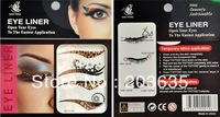 free shipping 40pair=80pcs,Vintage Temporary EyeLiner Tattoos,4 different styles in one bag,eyeliner Sticker,Makeup Tools