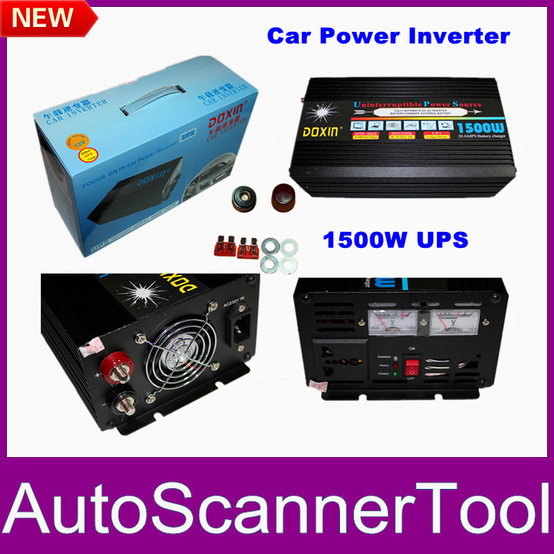 Professional Car Power Inverter 1500W UPS Power Inverter 12V DC To 220V AC With 20A Changer Free Shipping(China (Mainland))