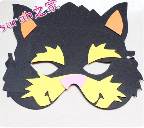 Mask parent-child game props supplies cartoon animal mask kitten(China (Mainland))