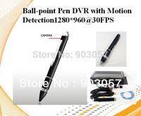 FreeShipping HD Ball-point Pen DVR Camera,Pen Hidden Camera,Pen Pinhole DVR Camera AVI with Motion Detection, 1280*960@30FPS