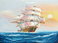 Free shipping(6 pcs/lot) hand painted high Q. home/hotel art  sea impression Oil Paintings
