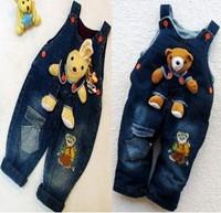 Baby Bear / Rabbit Jeans Romper Baby suspender trousers Baby Jumper pants
