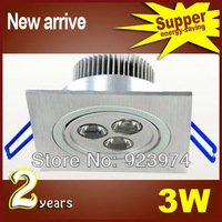 BOPO Dimmable 3W 3*1W Square Led Down Light  Lamp 120 Angle Led Fixture Ceiling Light 85-265V