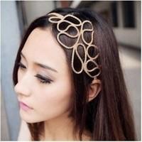 Free shipping (Min order $10) popular fashion accessories vintage cutout irregular flower headband hair bands hair accessory