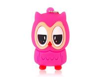 Wholesale Owl Design USB Flash Drive (Rose Red) 1GB 2GB 4GB 8GB 16GB 32GB