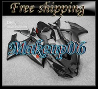 Customized -Matte black fairing kit FOR SUZUKI GSXR 600 750 K6 2006 2007 GSXR600 GSXR750 06 07 R600