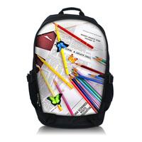 Colorful 15.6 Inch Netbook / Notebook / Laptop Backpack Bag School Travel Sports Bag Bookbag Worldwide