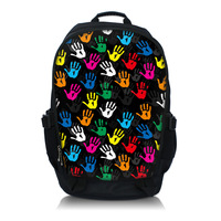 Colorful Hands 15.6 Inch Netbook / Notebook / Laptop Backpack Bag School Travel Sports Bag Bookbag Worldwide