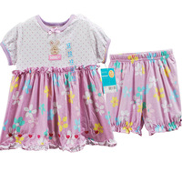 Baby Girls Dress+Pant 2 pieces of suitbaby girls summer suit
