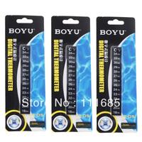 Free shipping 10Pcs/Lot BOYU Digital Aquarium Induction Temperature Tablet, Thermometer Water Meter, Stick-On Aquarium Fish Tank