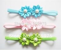 30pcs/lot Girls headwear Chiffon  Flowers Baby Headbands Hair Bands Assorted Colours