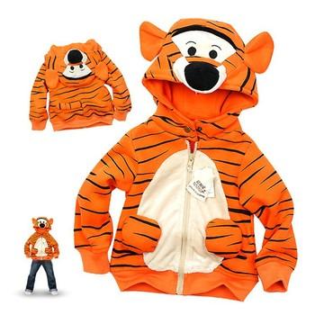 Free Shipping ! 1pcs Baby Tiger Hooded Coat Children Tiger Winter Jacket Boys Autumn Coat Kids Garment Retail