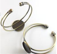 Diy accessories material bracelet trays time gem base copper vintage bracelet