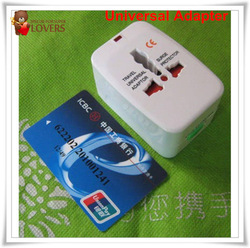 New Surge Protector Universal International Travel Power Adapter Plug (US/UK/EU/AU AC Plug) Guaranteed 100% free shipping 1pc(China (Mainland))
