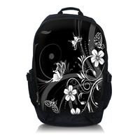 "Free Shipping Flower Laptop Netbook Backpack Bag 15.6"" Double Shoulder School BookBag"