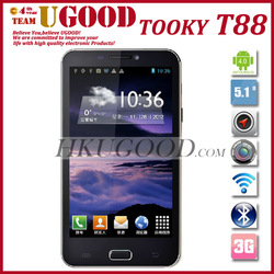 "New Arrival TOOKY T88 Android 4.0 Smartphone Dual Sim Cards 5.15"" TFT Screen 800*480 512RAM+4GROM Dual Camera Unlocked In Stock(China (Mainland))"