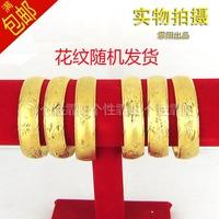 Gold plated bracelet gold bracelet high artificial gold dragon bracelet wedding jewellery female sand opening flower
