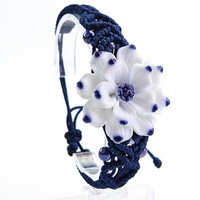 Day gift jingdezhen ceramic bracelet national trend accessories blue and white porcelain gift