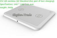 Free shipping 2 mobiles Qi Wireless Charger Pad&Charging Mat for Nokia Lumia 920/820 HTC 8X LG Nexus4 Samsung S4 SKY-018