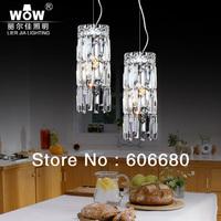 WOW luxury restaurant minimalist modern bedroom bedside lighting circular fashion creative crystal chandelier lamp single head