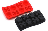 Min Order $20 (mixed order) 790 skull ice cube tray soft ice cup ice pattern plaid ice mould (CQ)