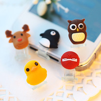 Min. order is $15 (mix order) 5463  mobile phone  touch mini cartoon push button dust plug home key