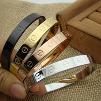The ring color sorting couple Wholesale Hot straight buckle bracelet rose gold bracelet with drilling screws Eternal